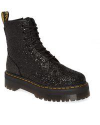Dr. Martens Jadon Glitter Platform Boot - Black