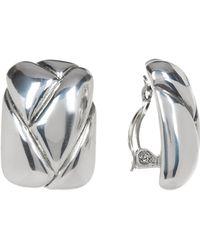 Simon Sebbag - Sterling Silver Square Braided Clip-on Earrings - Lyst