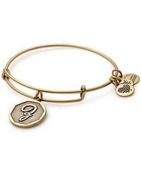 ALEX AND ANI Initial 'z' Adjustable Wire Bangle - Metallic