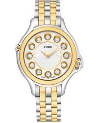 Fendi Women's Crazy Carats Quartz Bracelet Watch, 38mm - Metallic