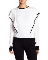 Haute Rogue | Colorblock Knit Pullover Sweater | Lyst