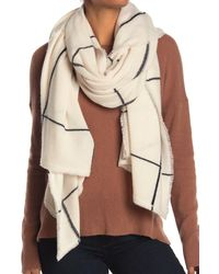 NAKEDCASHMERE Sasha Windowpane Print Cashmere Scarf - Natural