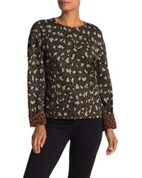 Diane von Furstenberg Long Sleeve Leopard Print Jacquard Sweatshirt - Black