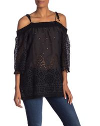 4959fd80cfa Lyst - Johnny Was Hailey Off The Shoulder in Black
