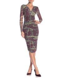 Petit Pois - Long Sleeve Ruched Dress - Lyst