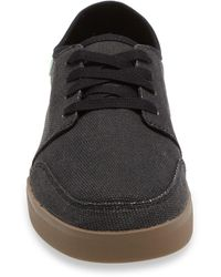 Sanuk Lace-up Sneaker - Black