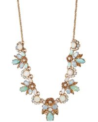 Marchesa - Floral Cluster Frontal Necklace - Lyst