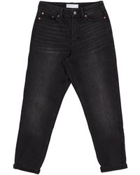 TOPSHOP Avril Girlfriend Jeans - Black
