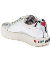 Love Moschino Metallic Heart Leather Sneaker