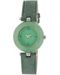 Peyote Bird - Women's Jade Leather Strap Watch, 25mm - Lyst