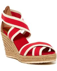 364e096163d Lola Espadrille Wedge Sandal - Red