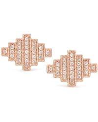 Dana Rebecca - 14k Rose Gold Jeb Diamond Stud Earrings - 0.26 Ctw - Lyst