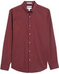 Calibrate Trim Fit Stretch Woven Sport Shirt - Red
