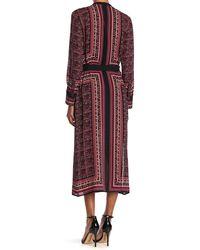 A.L.C. Isaacs Border Print Silk Midi Dress - Pink