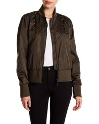 Sam Edelman - Lace-up Cropped Bomber Jacket - Lyst