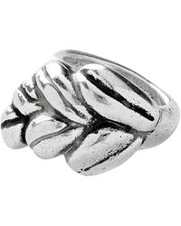 Uno De 50 Dew Wheat Design Band Ring - Metallic
