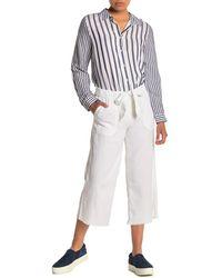 Caslon Crop Linen Blend Pants (regular & Petite) - White