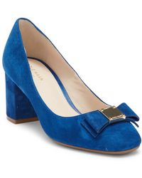Cole Haan - Tali Bow Suede Pump - Lyst