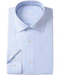 Bugatchi - Check Print Shaped Fit Dress Shirt - Lyst