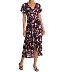 West Kei High/lo Wrap Dress - Multicolor