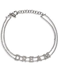 EF Collection 14k White Gold Pave Diamond Dream Bracelet - Metallic
