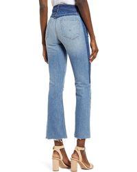 Hudson Jeans Holly High Waist Crop Flare Jeans - Blue