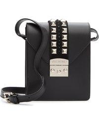 Valentino By Mario Valentino - Bridgette Studded Leather Crossbody Bag - Lyst