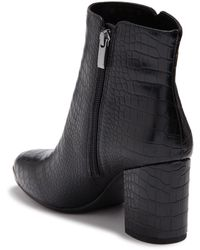 Franco Sarto Bianco Croc Embossed Boot - Black