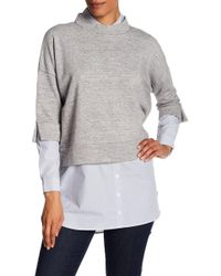 French Connection - Dune Mix Media Sweater - Lyst