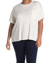 Lush Crew Neck Short Sleeve Pocket T-shirt - White