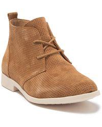 Born Bazu Perforated Suede Chukka Boot - Natural