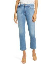 FRAME Avila Le Nouveau Mix Pocket Ankle Crop Straight Jeans - Blue
