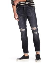 7 For All Mankind - Paxtyn Distressed Clean Pocket Jeans - Lyst