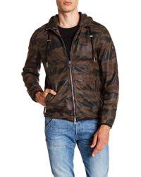 DIESEL - Melver Sheepskin Leather Print Jacket - Lyst