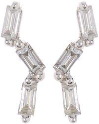 Ron Hami 14k White Gold Baguette Diamond Stud Earrings - 0.10 Ctw