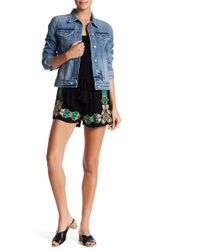 Romeo and Juliet Couture - Embroidered Drawstring Shorts - Lyst