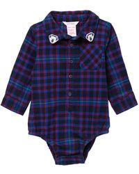 4883b07c4619 Joe Fresh - Woven Plaid Bodysuit (baby Boys) - Lyst
