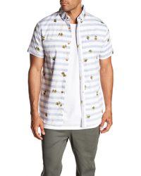 Sovereign Code - Patterned Short Sleeve Regular Fit Shirt - Lyst