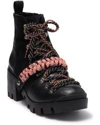 Schutz Emanuela Lug Sole Boot - Black