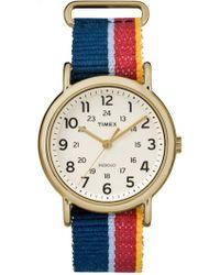 Timex - Women's Classic Weekend Woven Strap Watch, 38mm - Lyst