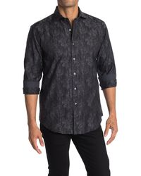 Bugatchi Allover Print Shaped Fit Shirt - Multicolour