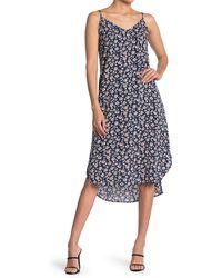 Velvet Heart Merlyn Adjustable Shoulder Strap Floral Print Cami Dress - Blue