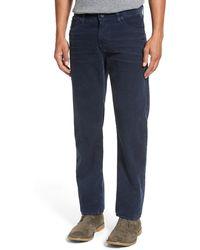 AG Jeans Graduate Tailored Straight Leg Corduroy Pant - Blue
