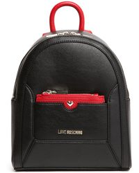 Love Moschino | Black/red Goat Backpack | Lyst