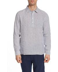 Onia - Martin Micro Stripe Shirt - Lyst