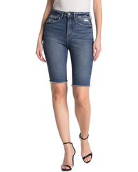 GOOD AMERICAN The Bermuda High Waisted Denim Shorts - Blue