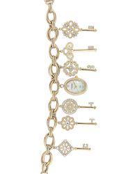 Anne Klein Women's Swarovski Crystal Accented Charm Watch - Metallic