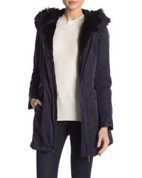 French Connection - Faux Fur Lined Parka - Lyst