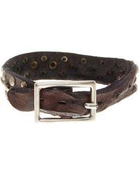 Tommy Bahama - Triple Rivet Leather Bracelet - Lyst