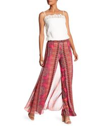 Analili - Elanor Wide Leg Skirt Overlay Patterned Pants - Lyst